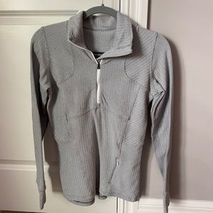 grey lululemon quarter zip